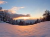 Sunset-in-snow